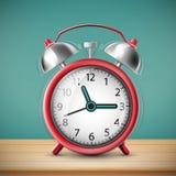 Ringing alarm clock on vintage background. Stock  illustra Royalty Free Stock Images