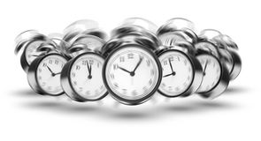 Ringing alarm clocks Stock Photos
