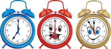 Ringing alarm cloks Stock Photos