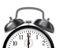 Ringing black alarm clock. Vector illustration. Royalty Free Stock Images