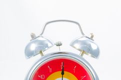 Ringing classical alarm clock isolated Royalty Free Stock Images
