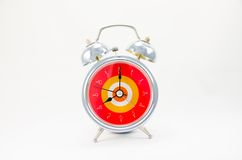 Ringing classical alarm clock isolated Stock Images