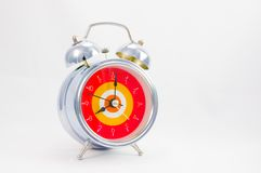 Ringing classical alarm clock isolated Royalty Free Stock Photos