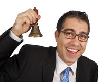 Ringing the hand bell stock photography