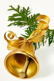 Ringing handbell. On a coniferous branch Royalty Free Stock Photo