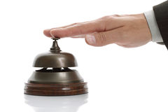 Ringing hotel reception bell royalty free stock images