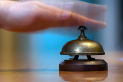 Ringing hotel reception bell Royalty Free Stock Photos