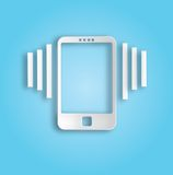 Ringing phone icon Stock Photography