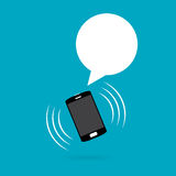 Ringing Phone with Talk Balloon Royalty Free Stock Images