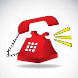 Ringing phone vector Royalty Free Stock Images
