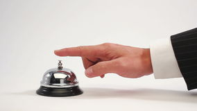 Ringing reception bell stock video