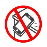 Ringing smartphone icon. Mobile phone ringing or vibrating flat icon for apps or websites royalty free illustration