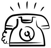 Ringing telephon (Vector) Royalty Free Stock Photo