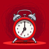 Ringing vintage alarm clock Stock Photography