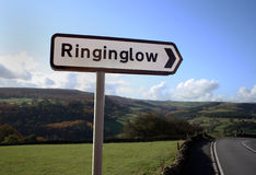 Ringinglow Sign Post Stock Image