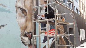 Ringiovanimento del viso del deposito del puma Fotografia Stock Libera da Diritti