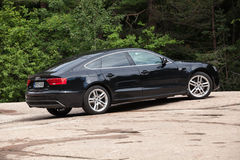 Ringiovanimento del viso nero Audi A5 2 0 anni di modello di TDI 2012 Immagini Stock Libere da Diritti