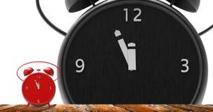 Ringklocka med små minuter till `-klockan för nolla tolv Royaltyfri Bild