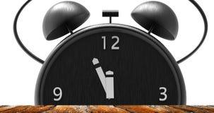 Ringklocka med små minuter till `-klockan för nolla tolv Royaltyfri Foto