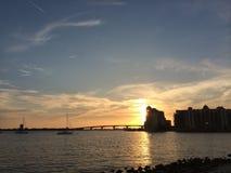 Ringling桥梁萨拉索塔佛罗里达 免版税库存照片