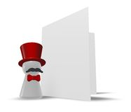 Ringmaster and card Stock Image