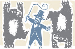 Ringmaster i niedźwiedzie Obraz Stock