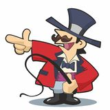 Ringmaster Pointing Left Stock Images