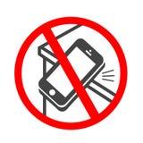 Ringningsmartphonesymbol Mobiltelefon som ringer eller vibrerar den plana symbolen för apps eller websites royaltyfri illustrationer
