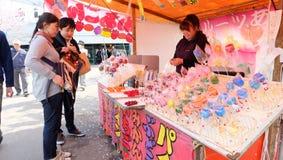 Ringo ame (りんご飴) japanese caramel fruit candy Stock Image