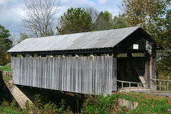 Ringo Mills Bridge. Covered Bridge in Kentucky Stock Photos