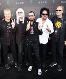 Ringo Starr, Edgar Winter, Steve Lukather, Gregg Bissonette and Richard Page Royalty Free Stock Photo