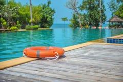 Ringowy boja pływacki basen Zdjęcie Royalty Free