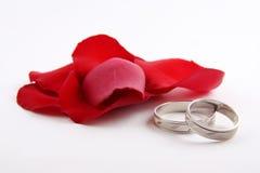 ringowy ślub Zdjęcie Stock