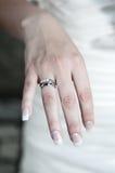 ringowy ślub Zdjęcie Royalty Free