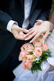 ringowy ślub Zdjęcia Royalty Free