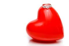 ringowy serce ślub Obrazy Stock