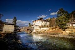 Ringpung Dzong in Paro, Bhutan royalty-vrije stock foto