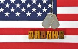 Ringraziamenti ai militari Fotografia Stock