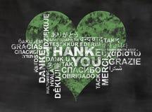Ringraziamenti di verde Fotografie Stock