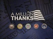 Ringraziamento dei rami delle nostre forze armate immagini stock libere da diritti