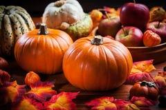 Ringraziamento e Halloween Immagini Stock