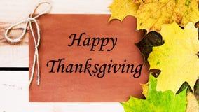 Ringraziamento felice Giorno di ringraziamento Fotografie Stock Libere da Diritti