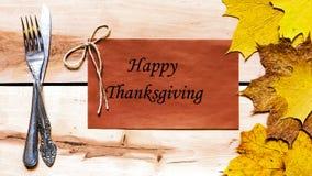 Ringraziamento felice Giorno di ringraziamento Fotografia Stock Libera da Diritti