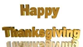 Ringraziamento felice, illustrazione 3D Immagini Stock