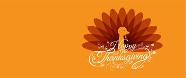 Ringraziamento felice, tipografico, personaggio dei cartoni animati Fotografie Stock Libere da Diritti