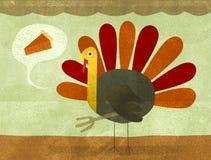 Ringraziamento Turchia e grafico a torta Immagine Stock