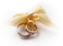 Rings. Two rings on a white background Royalty Free Stock Photography