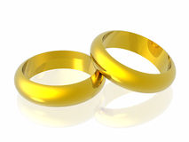 Rings. In white background (see more in my portfolio Stock Photo