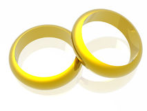 Rings. In white background (see more in my portfolio Royalty Free Stock Photos