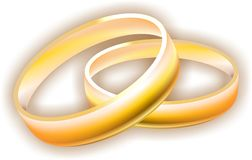 Rings. Two rings-a symbol of love Royalty Free Stock Photos